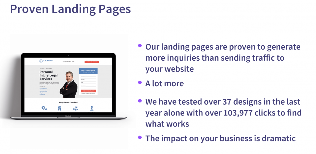 Personal Injury Lawyer Marketing Landing Pages